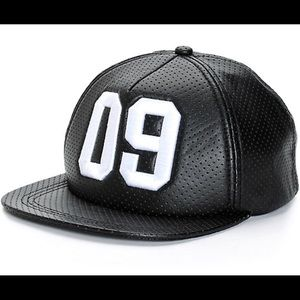 Accessories - NWT NINTH HALL 09 PERFORATED LEATHER SNAPBACK HAT